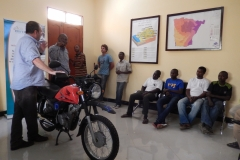 Motorbike training in Tanzania (Credit: Simon Chevalking, MetaMeta, 2017)